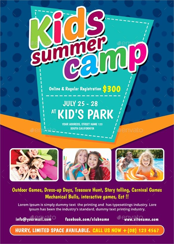 Summer Camp Flyer Templates Free Inspirational 17 Summer Camp Flyer Templates Word Psd Ai Eps Vector