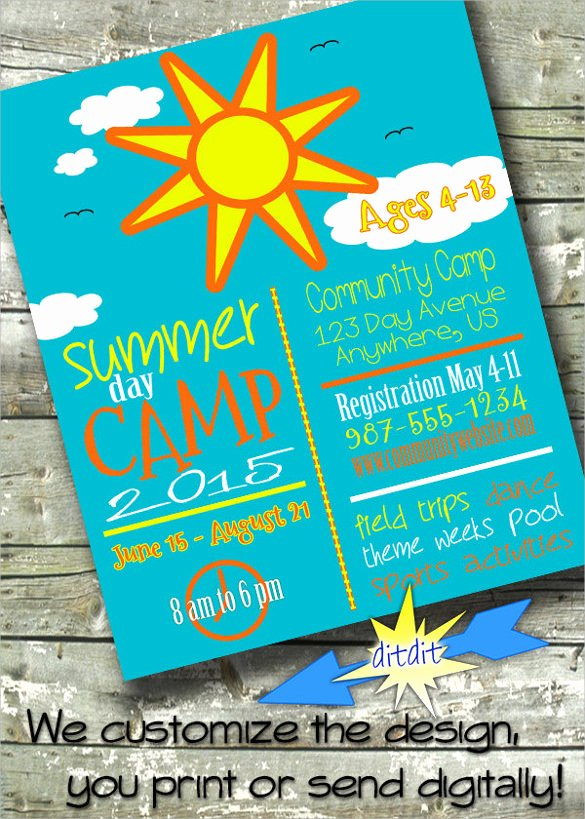 Summer Camp Flyer Templates Free Inspirational 17 Summer Camp Flyer Templates Word Psd Ai Eps Vector