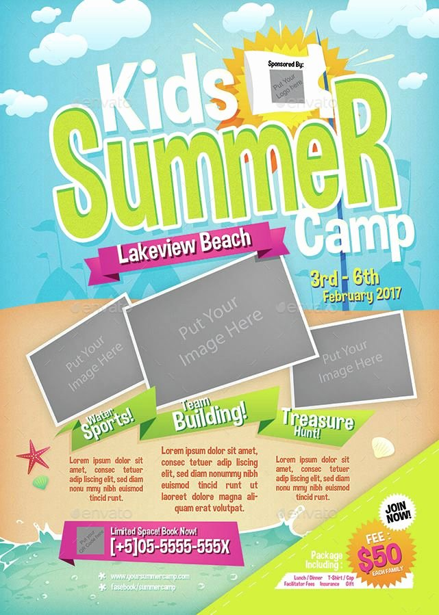 Summer Camp Flyer Templates Free Inspirational Kids Summer Camp Flyer Summer Kids Flyer Camp