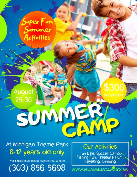 Summer Camp Flyer Templates Free Inspirational Kids Summer Camp Flyer Template