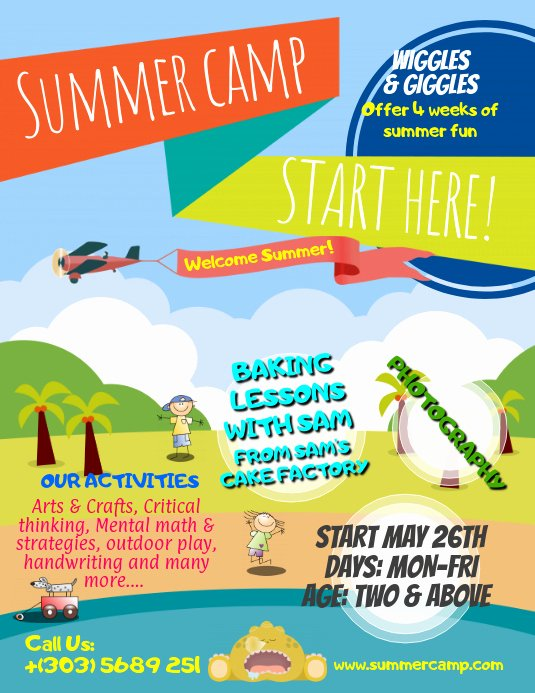Summer Camp Flyer Templates Free Inspirational Summer Camps Flyer Template
