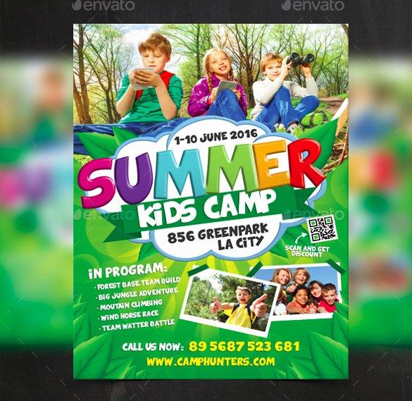 Summer Camp Flyer Templates Free Lovely 51 Summer Camp Flyer Templates Psd Eps Indesign Word