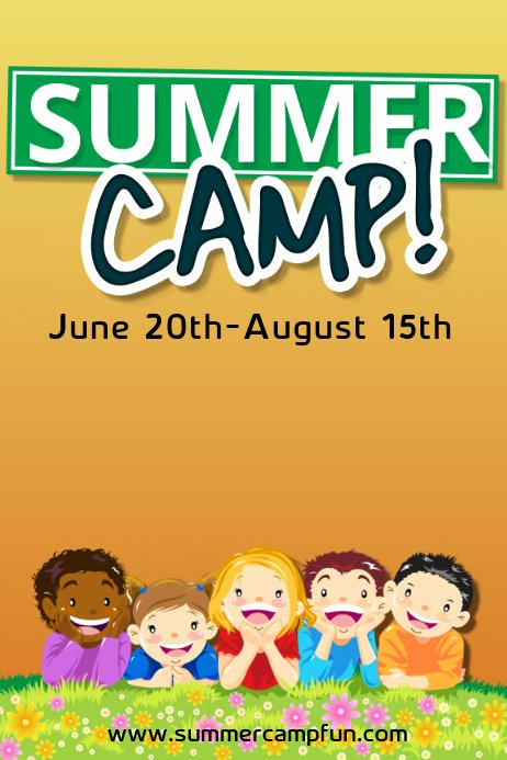 Summer Camp Flyer Templates Free Luxury Summer Camp Template