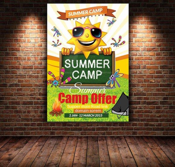 Summer Camp Flyer Templates Free New 20 Summer Camp Flyer Templates