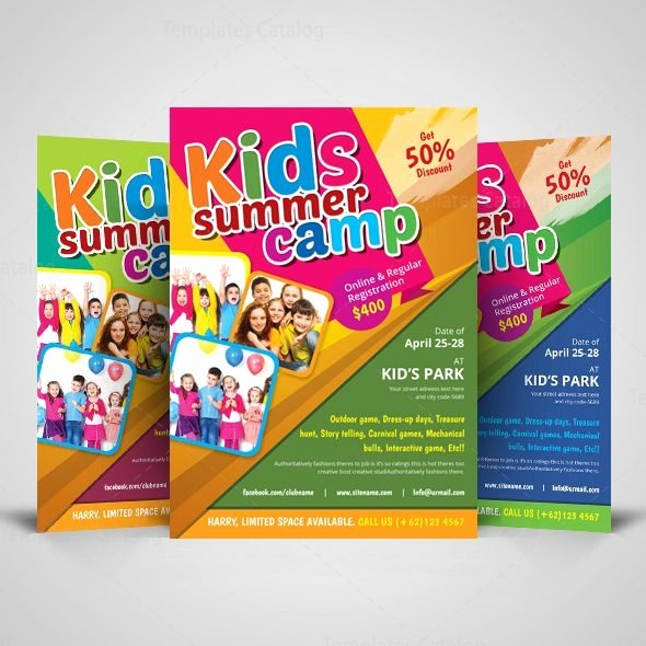 Summer Camp Flyer Templates Free New Kids Summer Camp Flyer Design Template Template