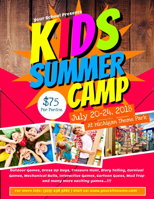 Summer Camp Flyer Templates Free New Kids Summer Camp Flyer Template