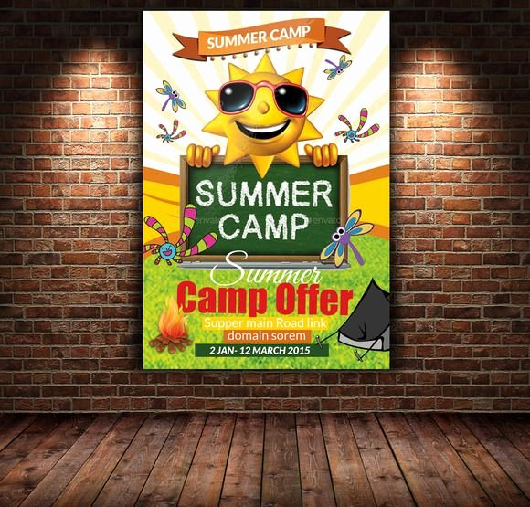 Summer Camp Flyer Templates Free New Summer Camp Flyer Template by Psd Templates On