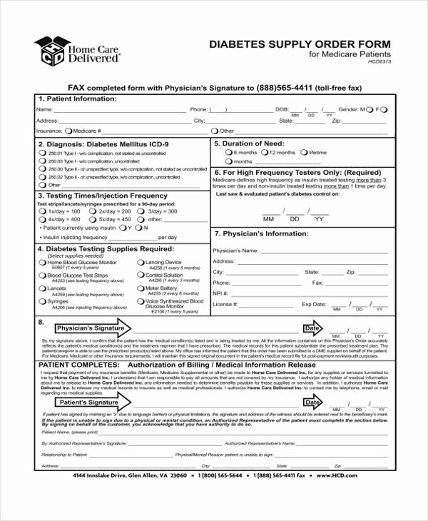 Supply order form Template Elegant Supply order Templates 8 Free Pdf format Download