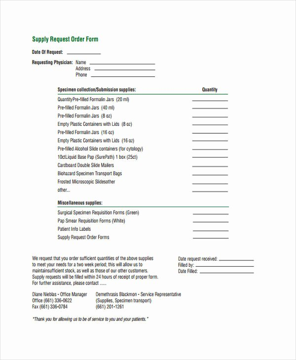 Supply order form Template Inspirational 10 Supply order Templates Free Sample Example format