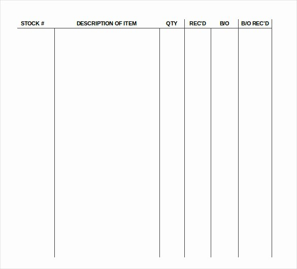Supply order form Template Lovely 17 Sample Supply Inventory Templates