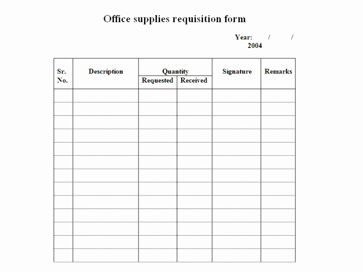 Supply order form Template New 4 Requisition form Templates Excel Xlts