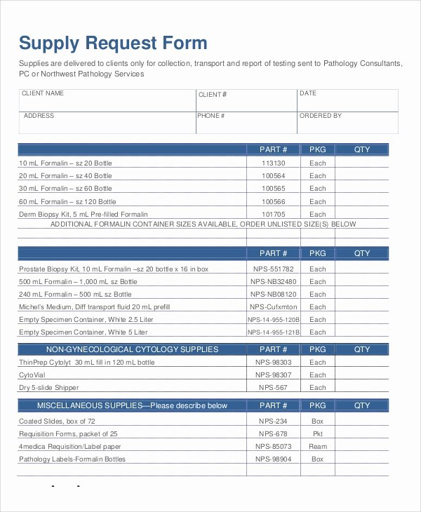 Supply order form Template New Sample Supply Request form 10 Examples In Word Pdf