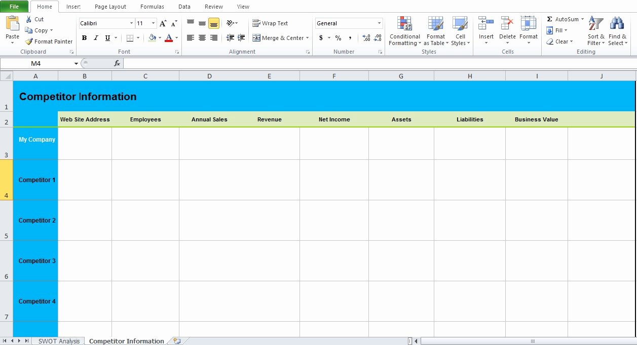 Swot Analysis Template Excel Unique Get Swot Analysis Template Excel Excel Tmp