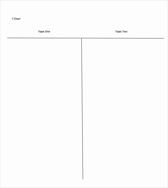 T Chart Template Pdf Awesome Sample T Chart Template 7 Documents In Pdf Word