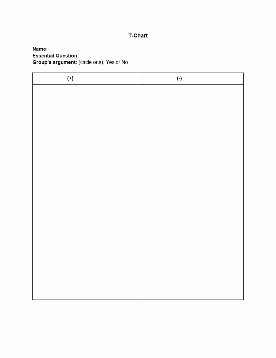 T Chart Template Pdf Best Of 30 Printable T Chart Templates & Examples Template Archive