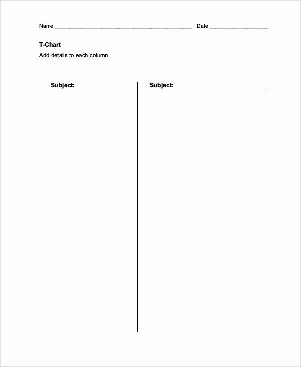 T Chart Template Pdf Best Of T Chart Templates 6 Free Word Excel Pdf format