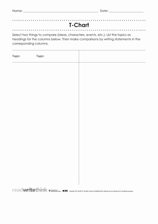 T Chart Template Pdf Elegant Fillable T Chart Template Printable Pdf