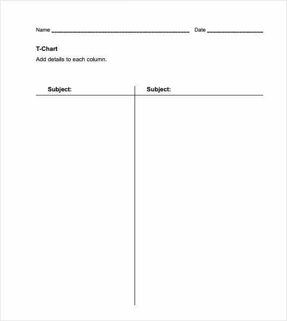 T Chart Template Pdf Elegant Sample T Chart Template 7 Documents In Pdf Word