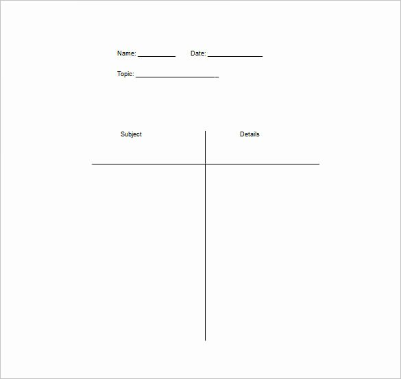 T Chart Template Pdf Elegant T Chart Template 15 Examples In Pdf Word Excel