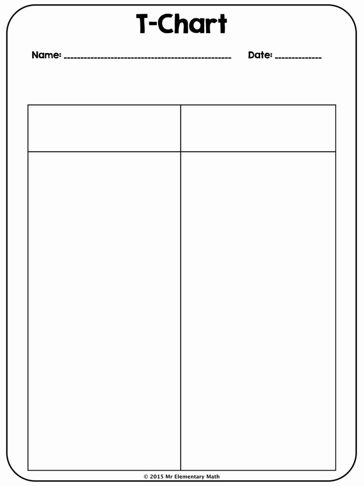 T Chart Template Pdf Unique Use This 2 Column T Chart to Students to Take Notes In