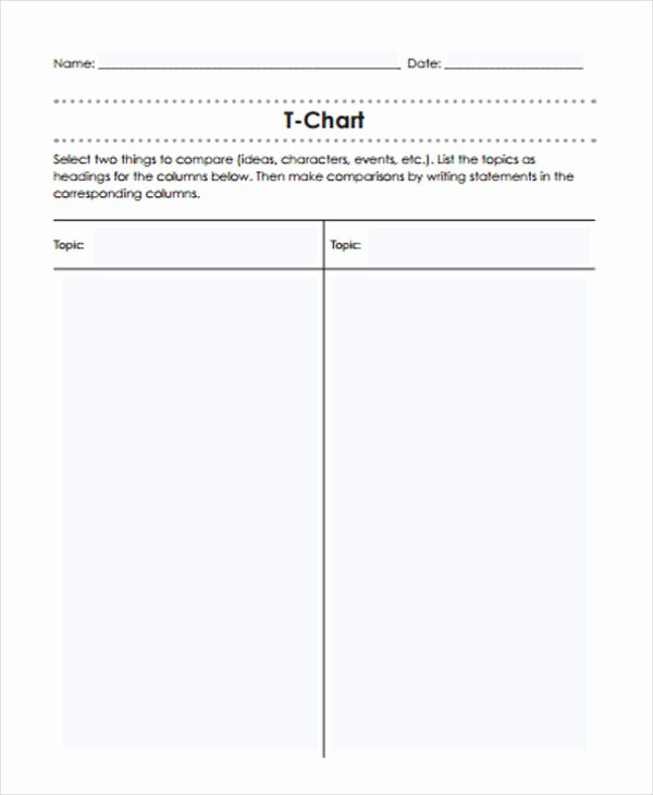 T Chart Template Word Best Of T Chart Templates 6 Free Word Excel Pdf format