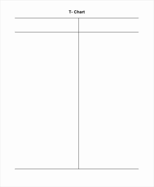 T Chart Template Word Elegant T Chart Template