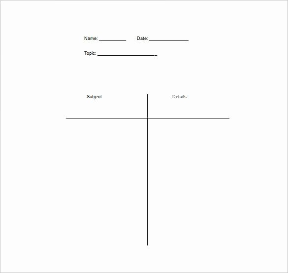 T Chart Template Word Elegant Word Table Templates Free