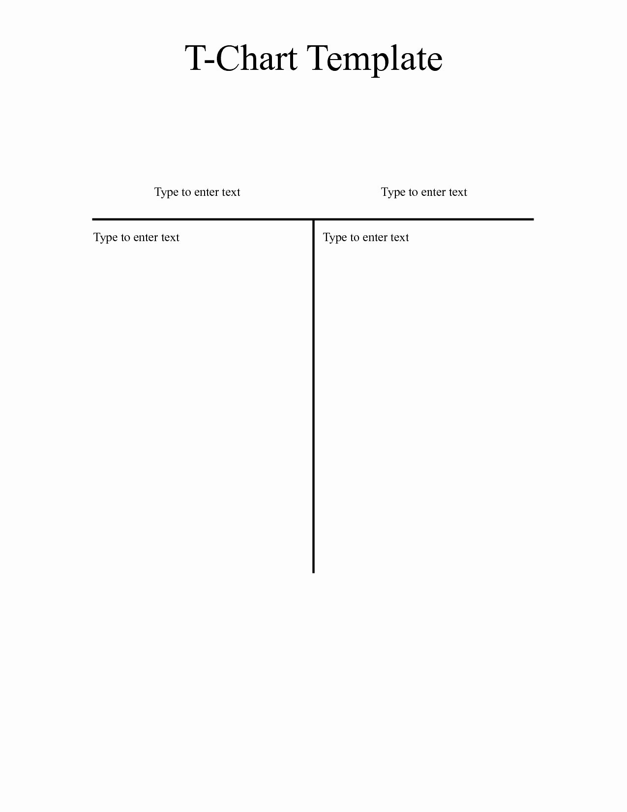 T Chart Template Word Fresh T Chart Template