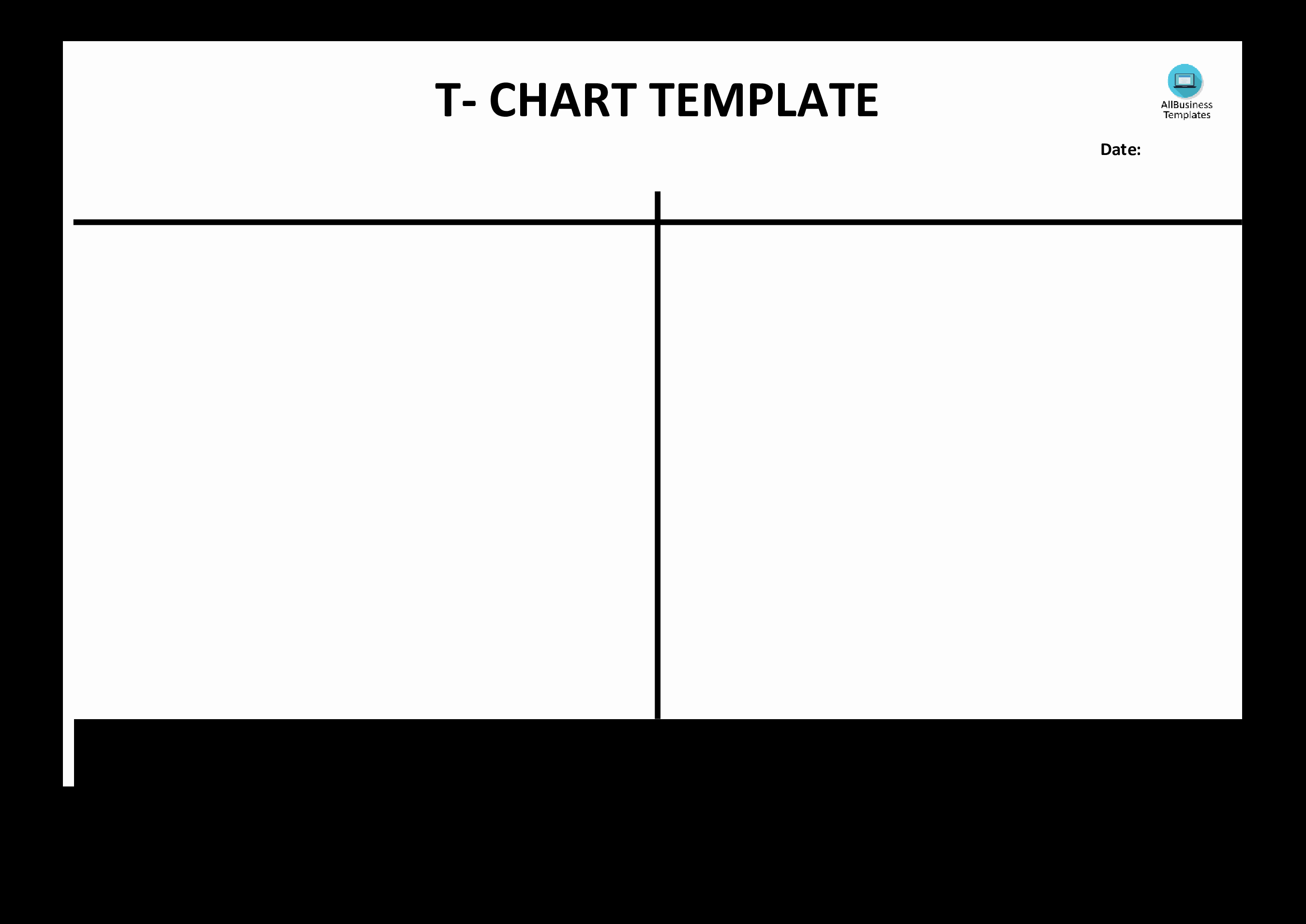 T Chart Template Word Inspirational Free T Chart Example Blank