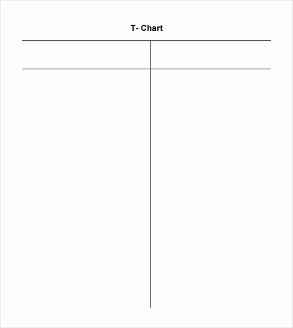 T Chart Template Word Lovely Sample T Chart 7 Documents In Pdf Word