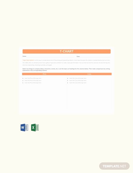 T Chart Template Word New Free Tally Chart Template In Microsoft Word Apple Apple