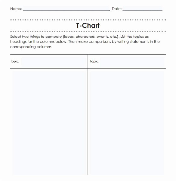T Chart Template Word Unique Easy and Effective Low Prep oral Activities that Can