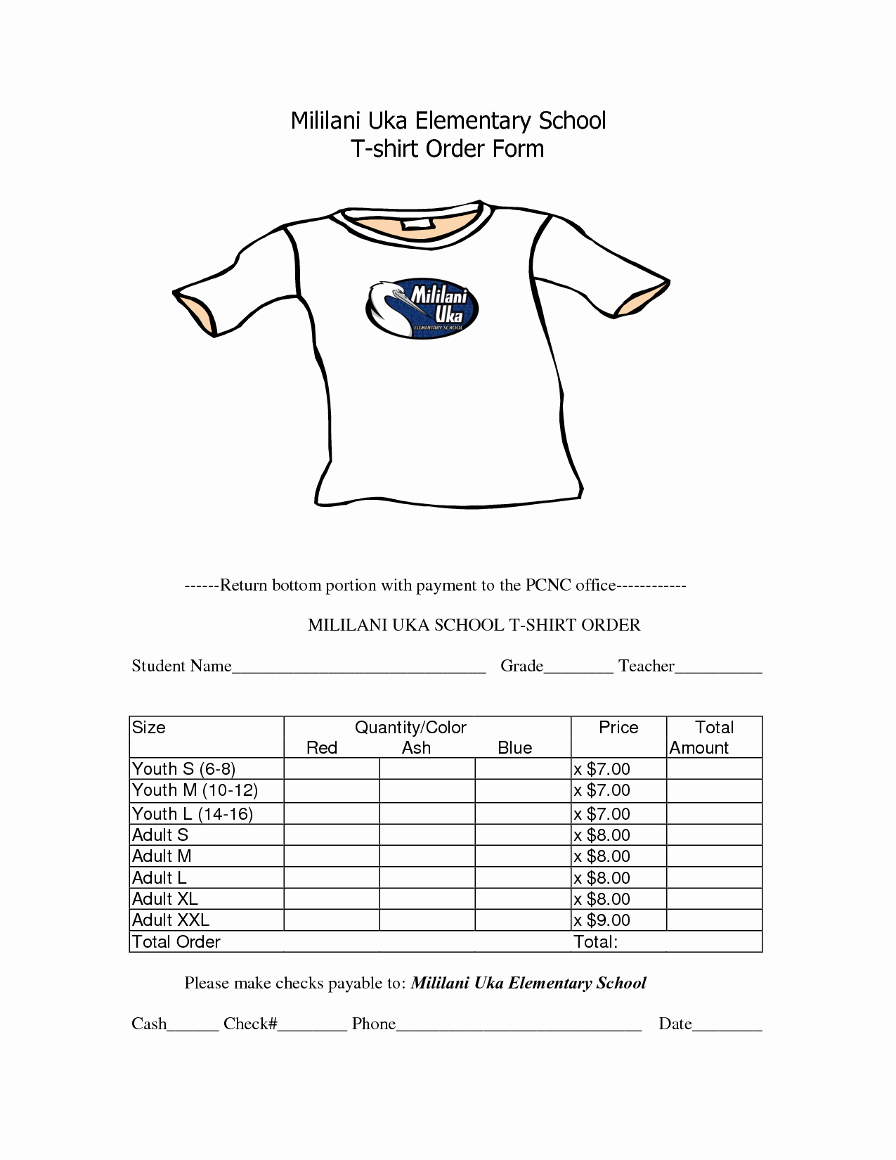T Shirt form Template Beautiful School T Shirt order form Template Awana