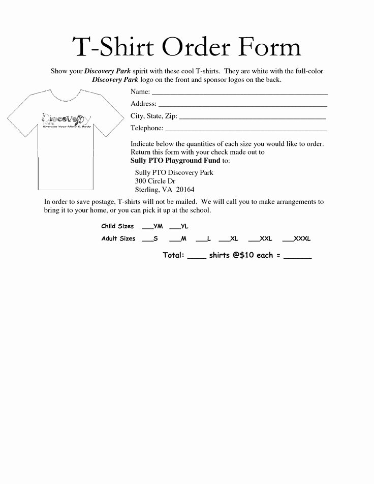 T Shirt form Template Inspirational 35 Awesome T Shirt order form Template Free Images