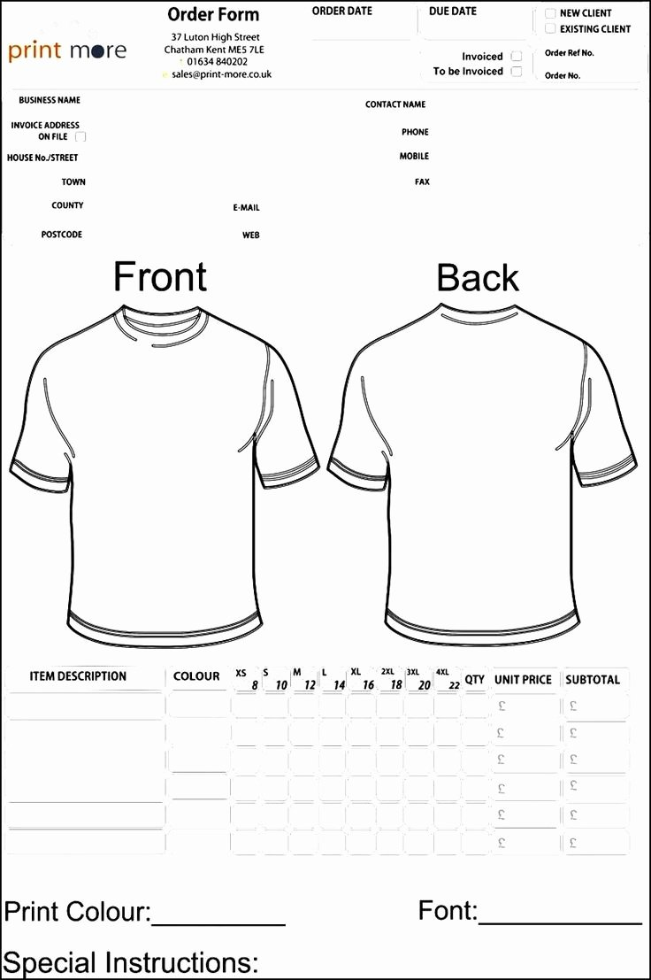 T Shirt order forms Templates Fresh 48 Best Sample order Templates Images On Pinterest
