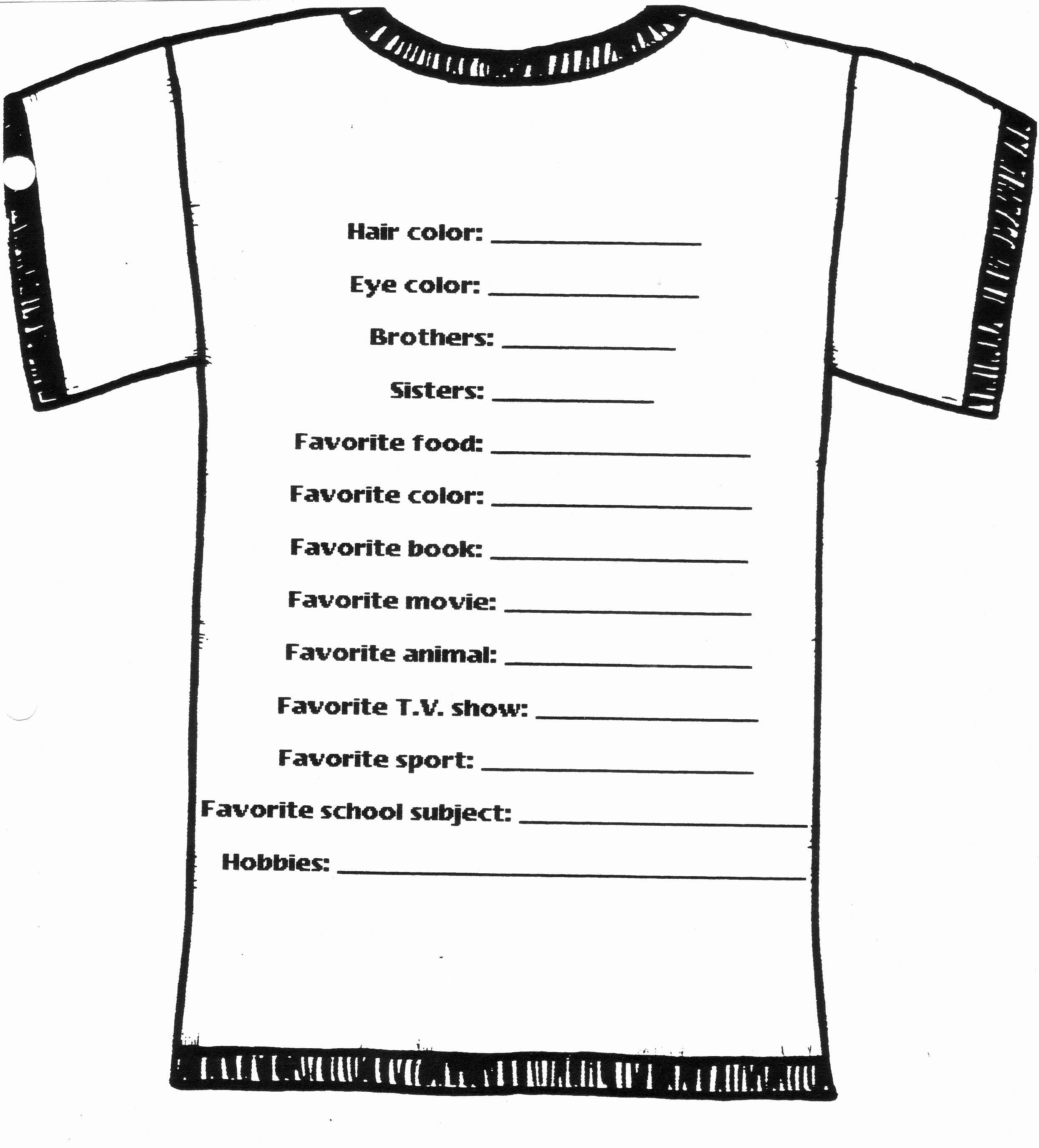 T Shirt order Template Lovely T Shirt order form Template