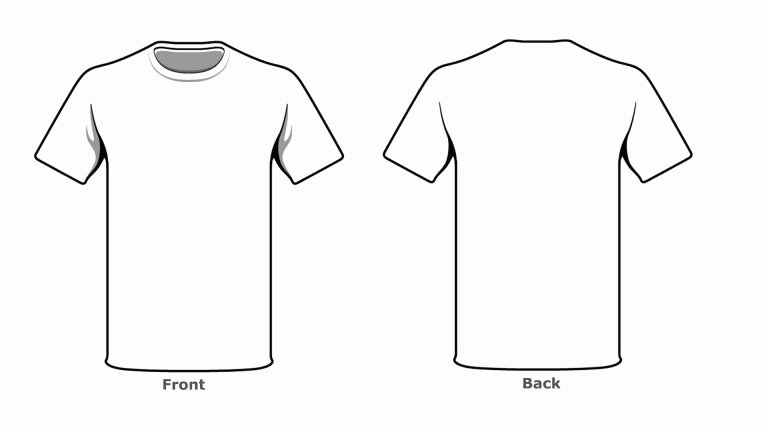 T Shirt Template Pdf Beautiful Blank Tshirt Template Front Back Side Kjm In 2019