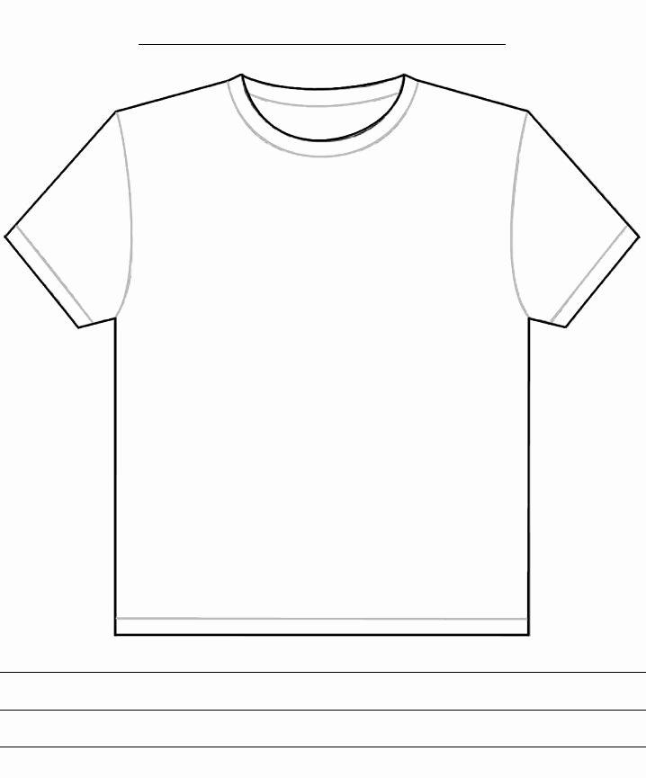 T Shirt Template Pdf Elegant Blank Tshirt Template Pdf