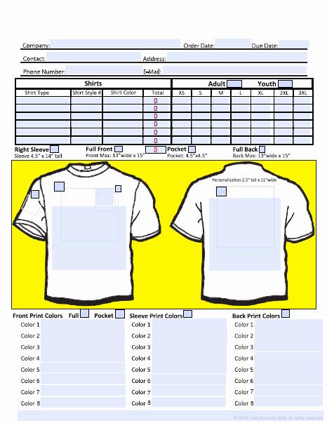 T Shirt Template Pdf Elegant T Shirt Invoice Template