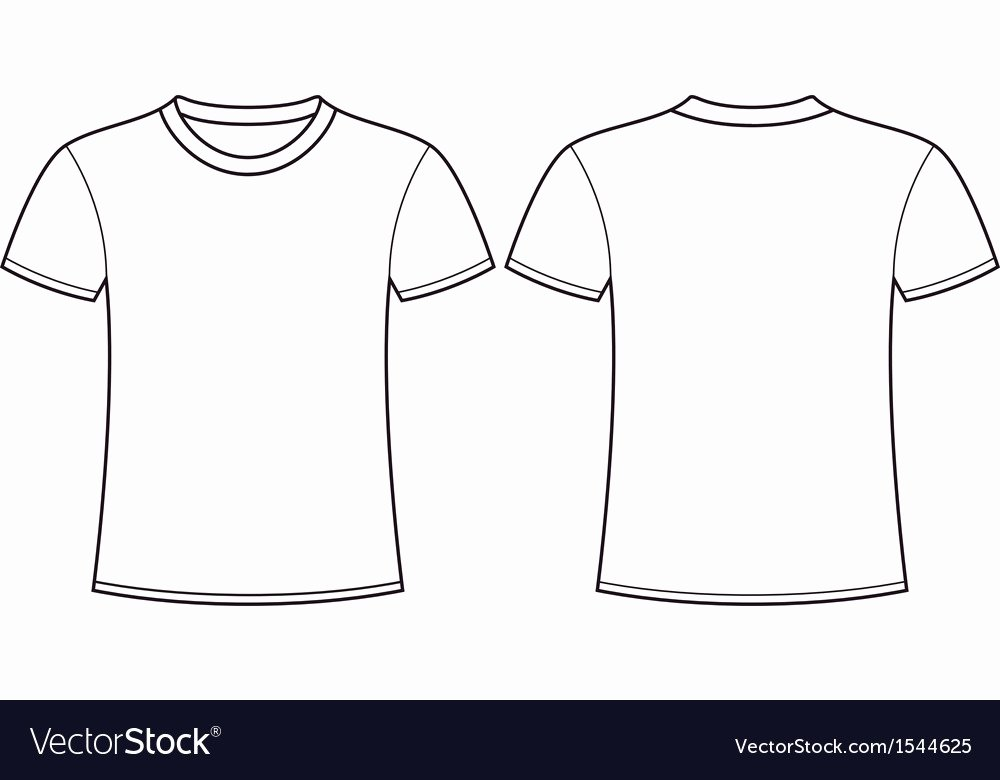 T Shirt Template Pdf Fresh Blank T Shirt Template Front and Back Royalty Free Vector
