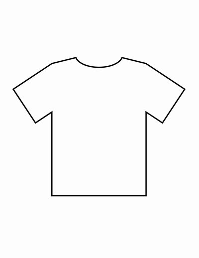 T Shirt Template Pdf Fresh Blank T Shirt Templates