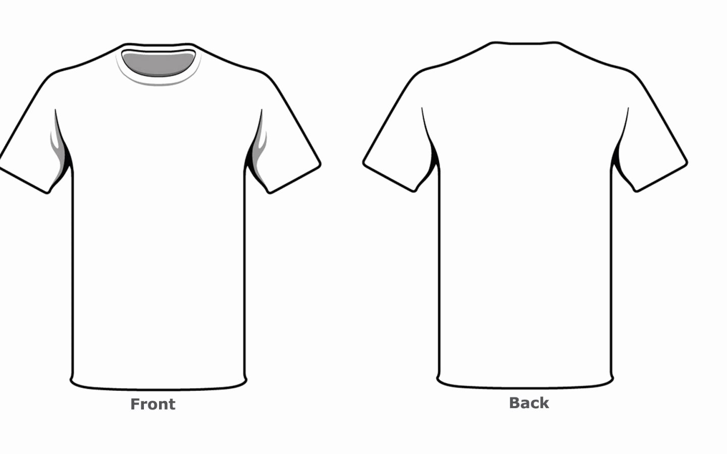 T Shirt Template Pdf Fresh Blank Tshirt Template Front Back Side In High Resolution