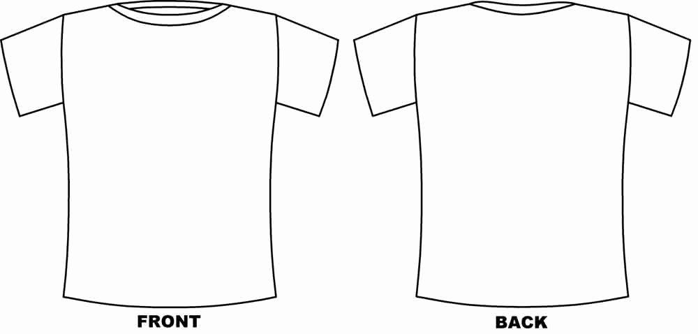 T Shirt Template Pdf Unique T Shirt Design Template