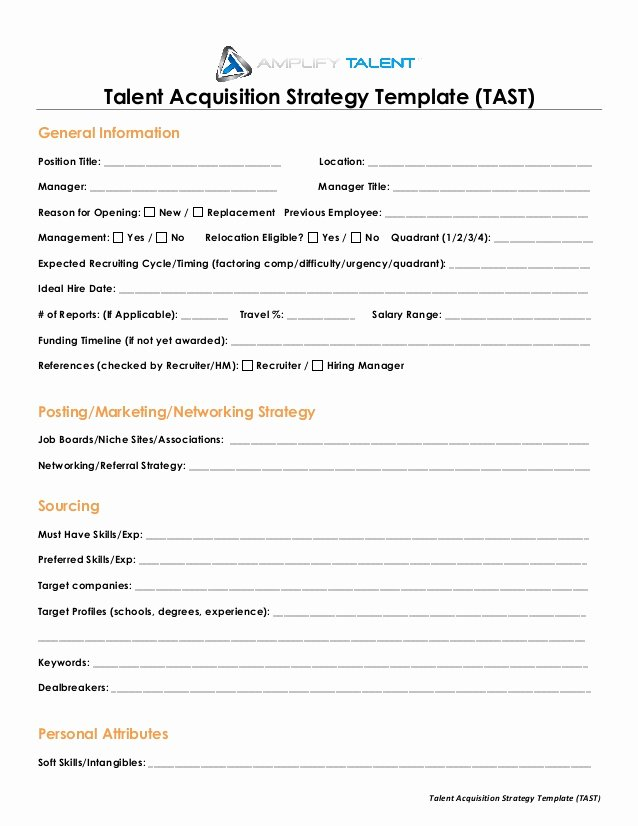 Talent Management Contract Template Best Of Talent Acquisition Strategy Template Amplify Talent
