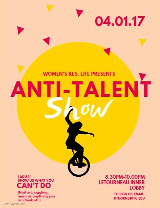 Talent Show Flyer Template Awesome Copy Of Talent Show Flyer Template Postermywall