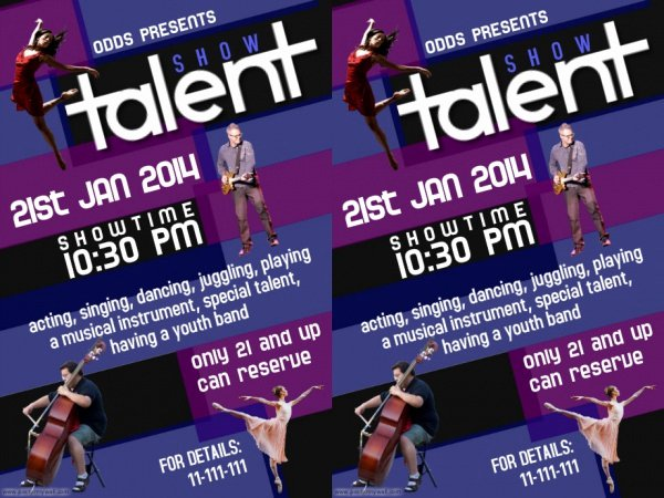 Talent Show Flyer Template Awesome Talent Show Flyer Template 3 600 X 450