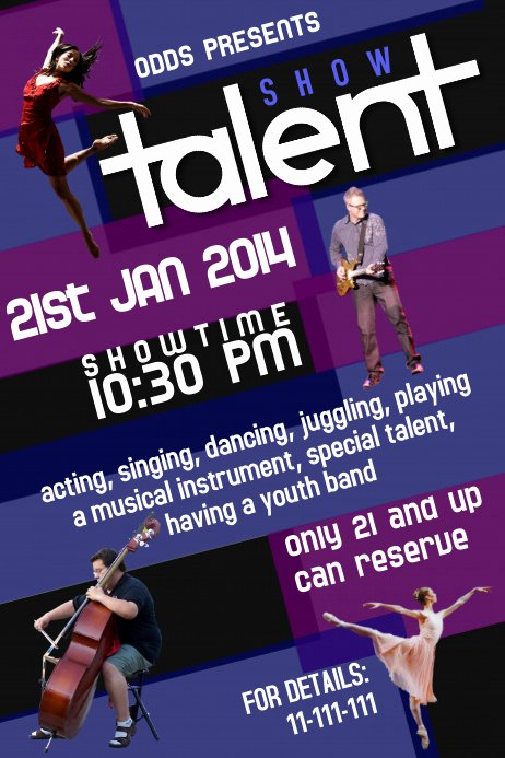 Talent Show Flyer Template Awesome Talent Show Flyer Template