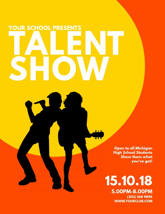 Talent Show Flyer Template Beautiful Copy Of Talent Show Flyer Template