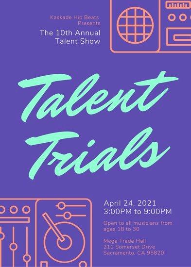 Talent Show Flyer Template Beautiful Customize 68 Talent Show Flyer Templates Online Canva