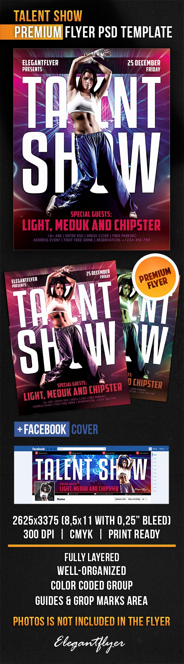 Talent Show Flyer Template Beautiful Talent Show – Flyer Psd Template – by Elegantflyer
